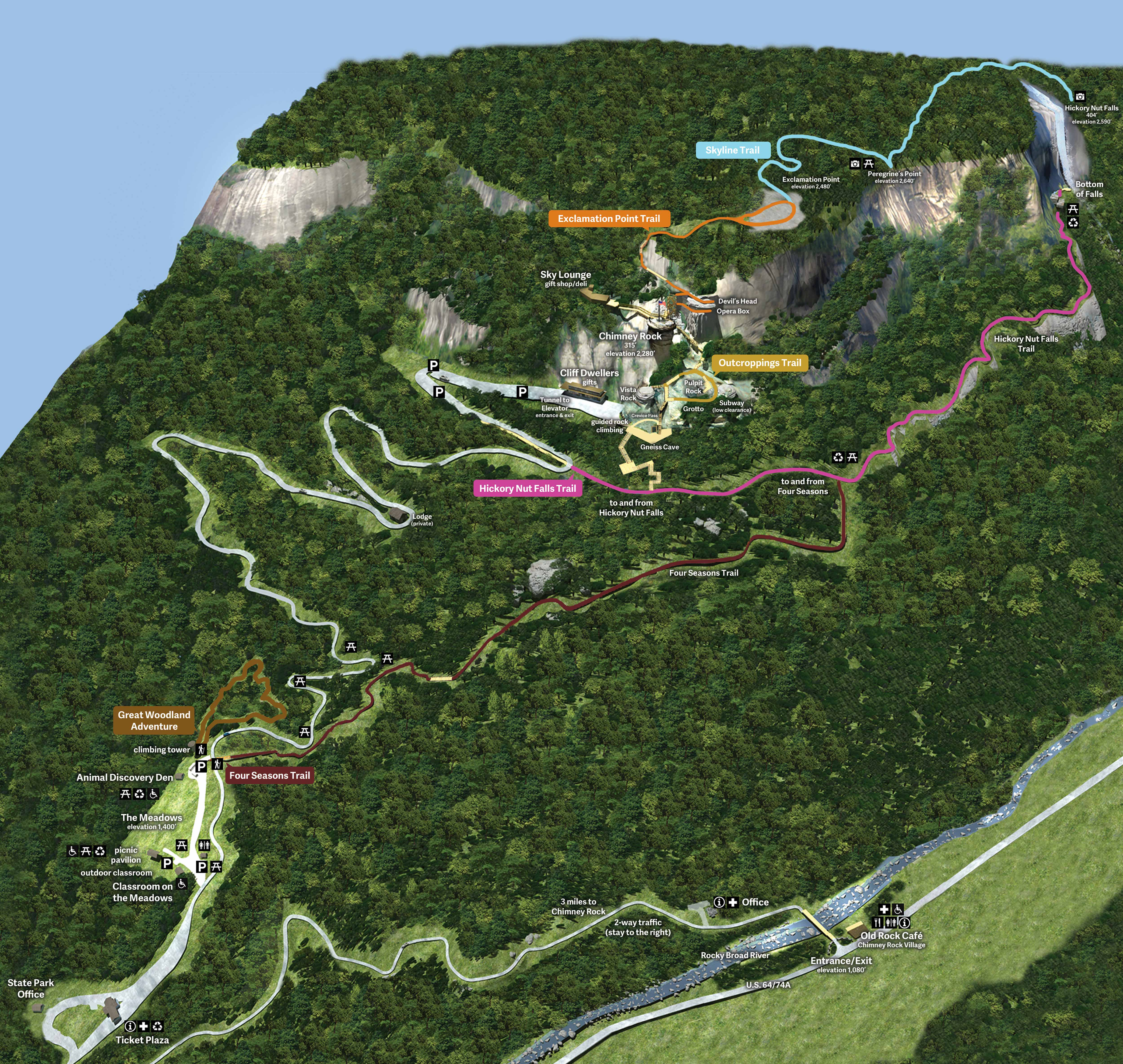 Flora, fauna + features Trail Map